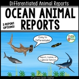 Animal Report and Informational Writing for Ocean Animals