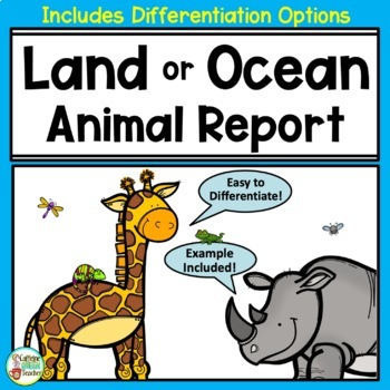 Animal Report & Informational Writing Lapbook For Research