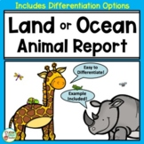 Animal Report and Informational Writing