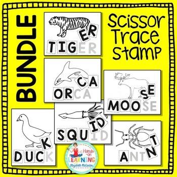 Animal Letter Scissoring BUNDLE - An Animal Literacy Center