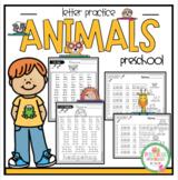 "Animal Letter Trace ""No Prep"""