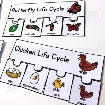 Animal Life Cycle Puzzles