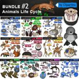 Animal Life Cycles Clipart Bundle #2