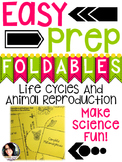 Animal Life Cycles and Reproduction Foldables & Notebook Ideas!