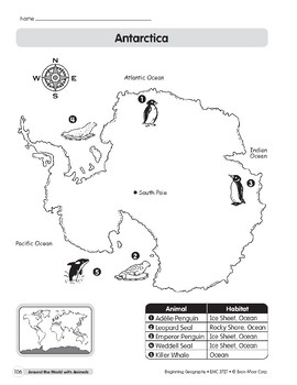 Animal Life Maps: Antarctica