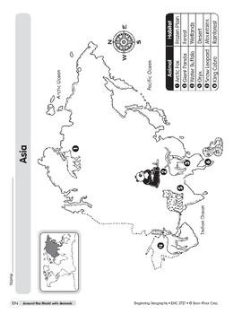 Animal Life Maps: Asia