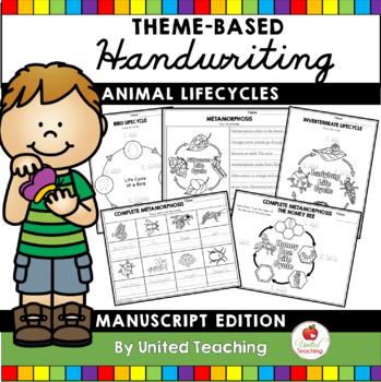 Animal Lifecycles Handwriting Lessons (Manuscript Edition)