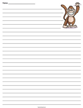Animal Lined Paper Pack