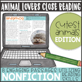 Animal Lovers Close Reading- Cutest Edition