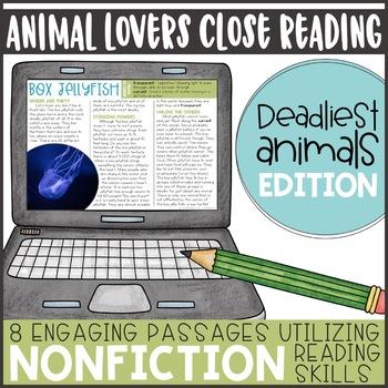 Animal Lovers Close Reading- Deadliest Edition