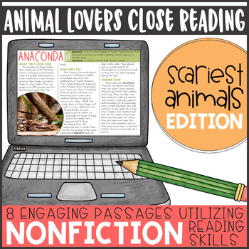 Animal Lovers Close Reading- Scariest Edition