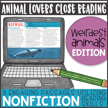 Animal Lovers Close Reading- Weirdest Edition