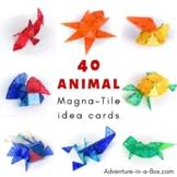 Animal Magna Tile Idea Cards