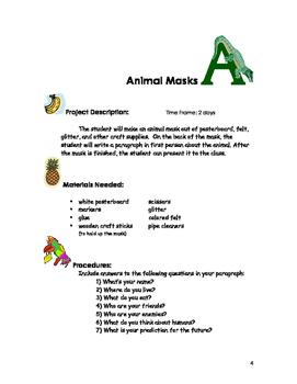 Animal Masks: A Creative ESL Vocabulary Activity