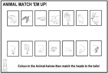 Animal Match 'Em Up #2