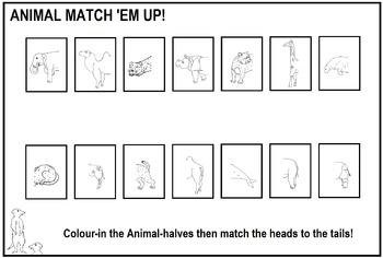 Animal Match 'Em Up