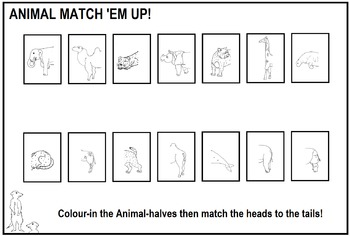 Animal Match 'Em Up