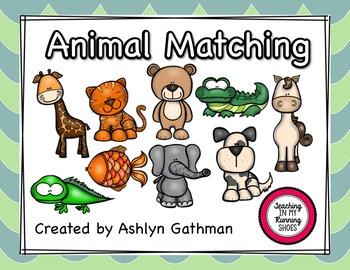 Animal Matching Book