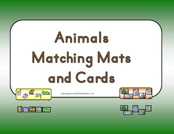 Animal Matching Mats and Cards