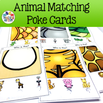 Animal Matching Poke Cards