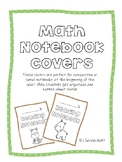 Animal Math Notebook Covers