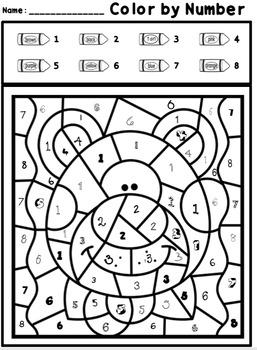 Animal Math: Numbers 0-20, Addition, Plus Literacy Bonus Pages