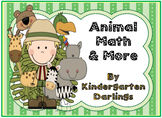 Animal Math: Numbers 0-20, Addition, Plus Literacy Bonus Pages