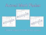 Animal Math Packet