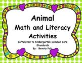 Animal Math and Literacy Activities