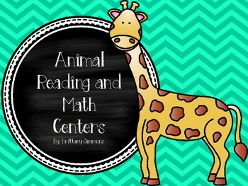 Animal Math and Literacy Centers