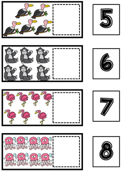 Animal Math and Literacy Centers | Counting Center | Writing Center #1