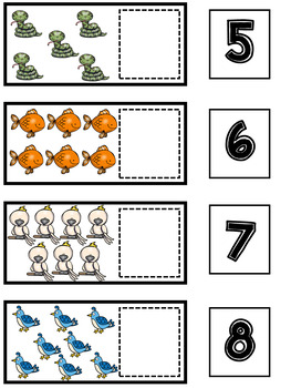 Animal Math and Literacy Centers | Counting Center | Writing Center #2