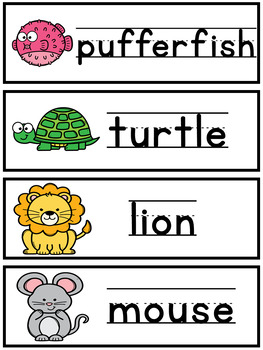 Animal Math and Literacy Centers | Counting Center | Writing Center #3