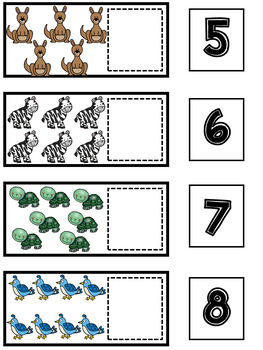 Animal Math and Literacy Centers | Counting Center | Writing Center #4