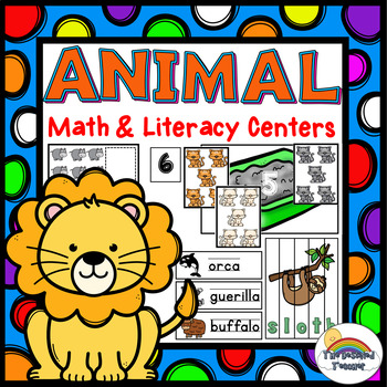 Animal Math and Literacy Centers | Counting Center | Writing Center #5