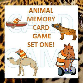 """Memory Bundle """"Animals Three Game Sets"""" (Matching Cards Game)"""
