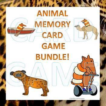 Animal Bundle: Memory Game (Three Sets)