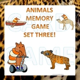 Animals: Memory Game (Set Three)
