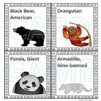 Animals: Memory Game (Set Three)