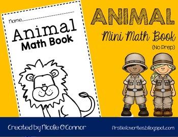 Animal Mini Math Book (No Prep)