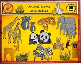 Animal Moms and Babies Clip Art