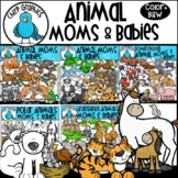 Animal Moms and Babies Clip Art Bundle - Chirp Graphics