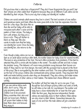 Animal Moms & Babies: Non-Fiction Passages, Printables, and Photos