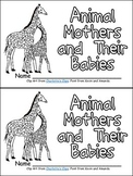 Animal Mothers Emergent Reader for Kindergarten- Great for Mothers Day