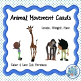 Animal Movement Cards with Laban Efforts