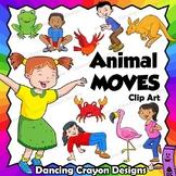 Animal Movement - Kids in Animal Poses | Clip Art Kids