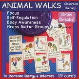 Animal Walks ~ Yoga Cards: Self-Regulation, Brain Breaks-C