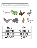 Animal Movements Vocabulary Match-Up