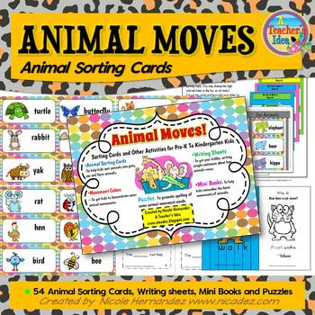 Animal Sorting Cards and Activities For Pre-K To Kindergar