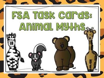 Animal Myth Task Cards: FSA Test Prep